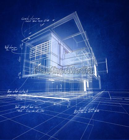 wireframe moderne konstruktion