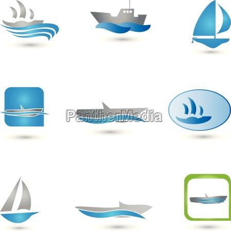 boote logos sammlung schiffe