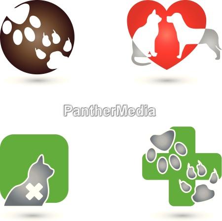 katze hund logo tier tierpfleger