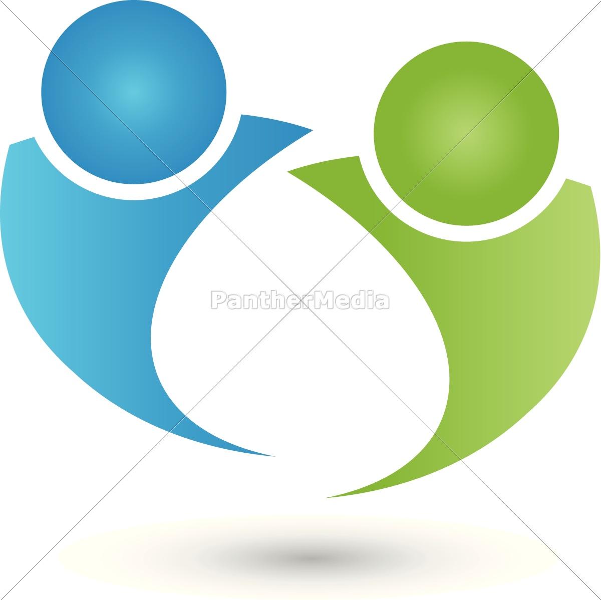 zwei, personen, logo, , menschen, , paar - 14230815