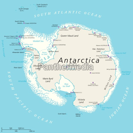 antarctica political map