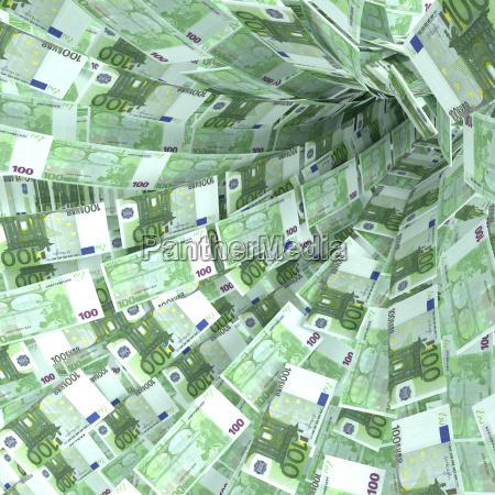 geldstrudel aus 100 euroscheinen