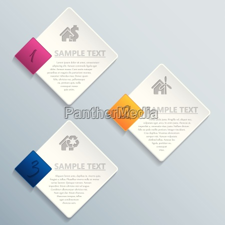 abstract rhomb infographic design