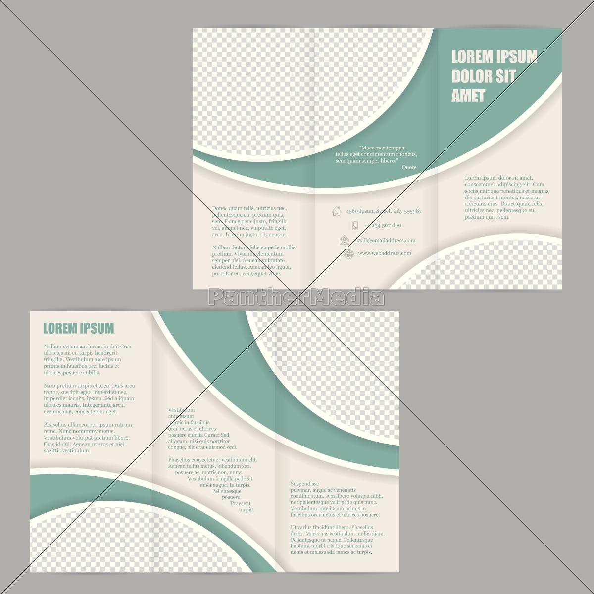 tri-fold broschüre flyer design-vorlage - Lizenzfreies Bild ...
