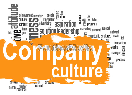 company culture word cloud with yellow