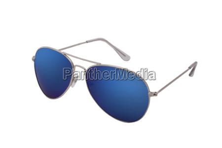 blaue sonnenbrille pilotenbrille im klassischen style
