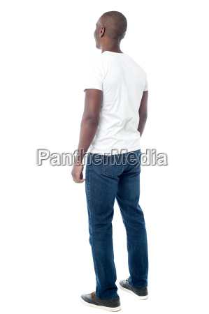 casual man from back