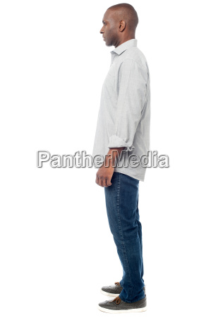 side pose of casual man