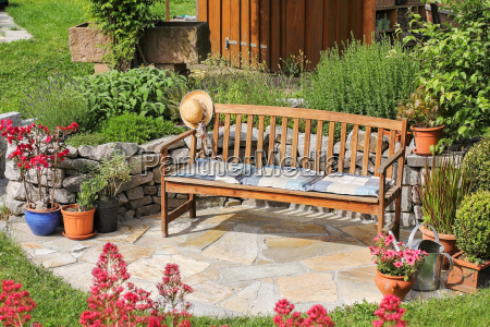 seating in the garden