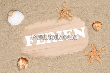 strand sand szene in den ferien