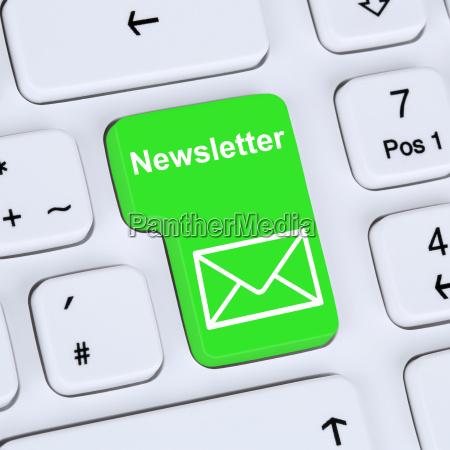 internet konzept newsletter senden fuer business