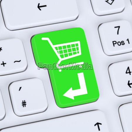 internet konzept online shopping e commerce