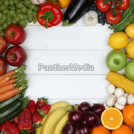 vegetarisch und vegan essen rahmen aus