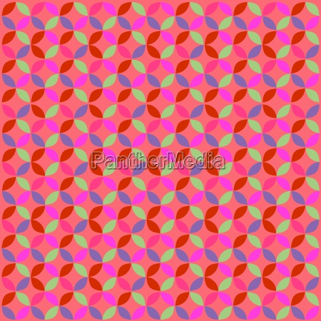 abstract retro geometric circle pattern red