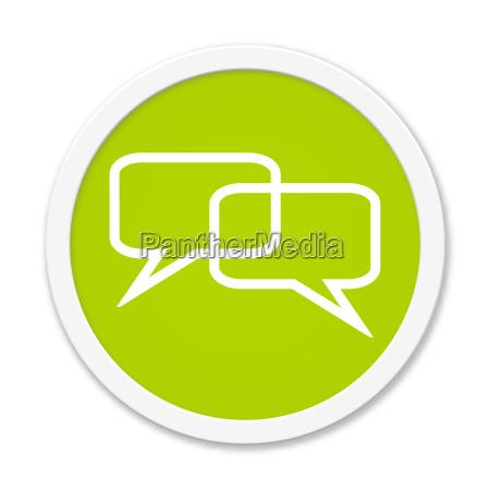 runder button zeigt sprechblasen
