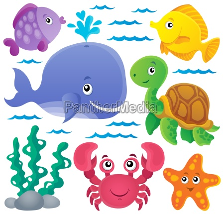 ocean fauna thematic collection 1