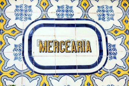 azulejo wandfliesen in lissabon portugal