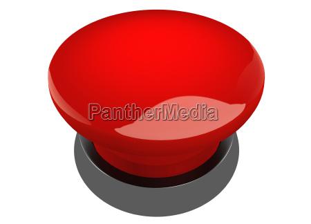 roter leuchtender buzzer button