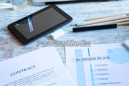 vertrag und business plan