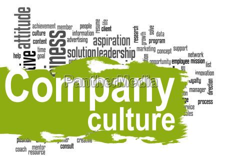 company culture word cloud with green