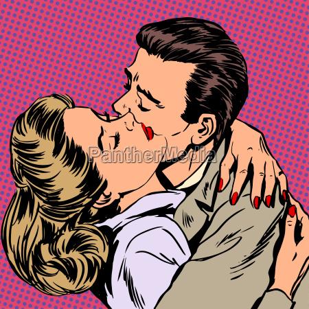passion man woman embrace love relationship