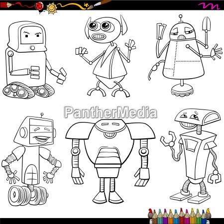 fantasieroboter cartoons malvorlagen