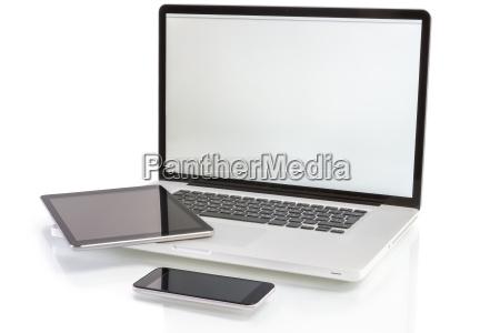 moderne computer geraete laptop tablet