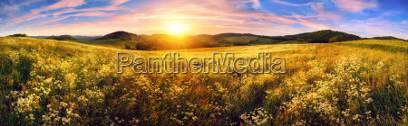 panorama, of, a, colorful, sunset, on - 14284875