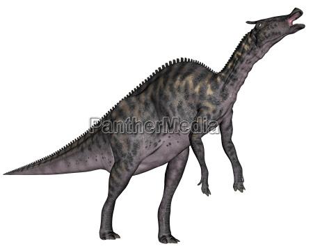saurolophus dinosaurier 3d render