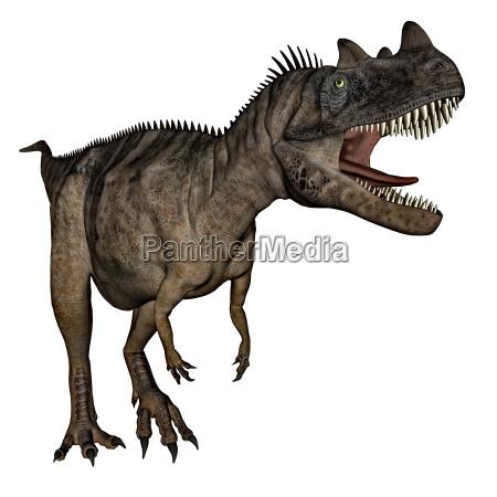 ceratosaurus dinosaurier 3d rendering