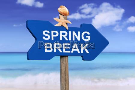 spring break am strand und meer