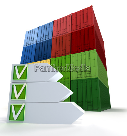 frachtcontainer und erfolgreiche checkliste