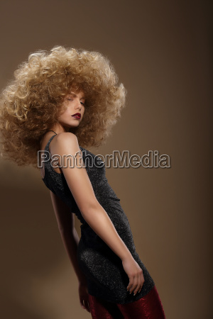 haute couture fashion woman with fancy