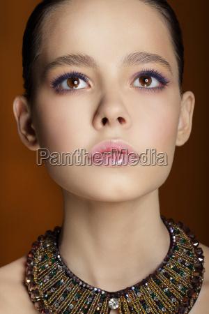 studio portrait of young gentle fashion