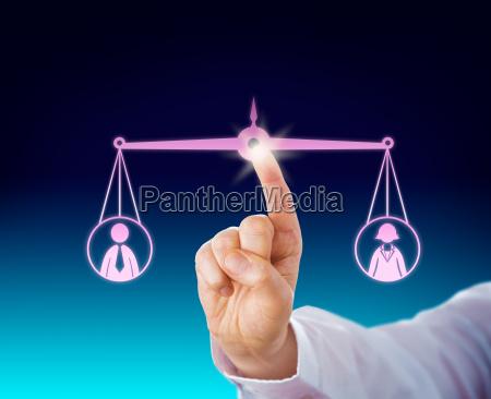 keeping a weibliche und maennliche arbeitnehmer