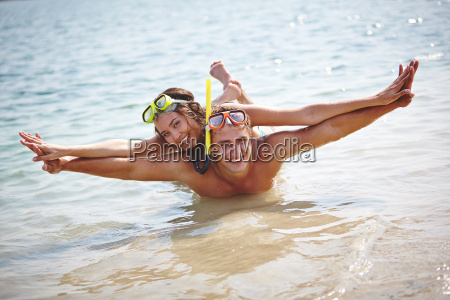 happy scuba diving
