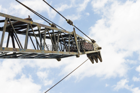 old crane or metal structure and