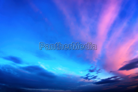 twilight sky in deep blue and
