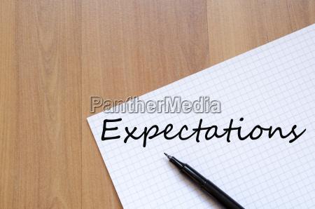 die erwartungen konzept