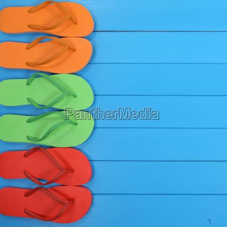 flip flops sandalen im sommer strand