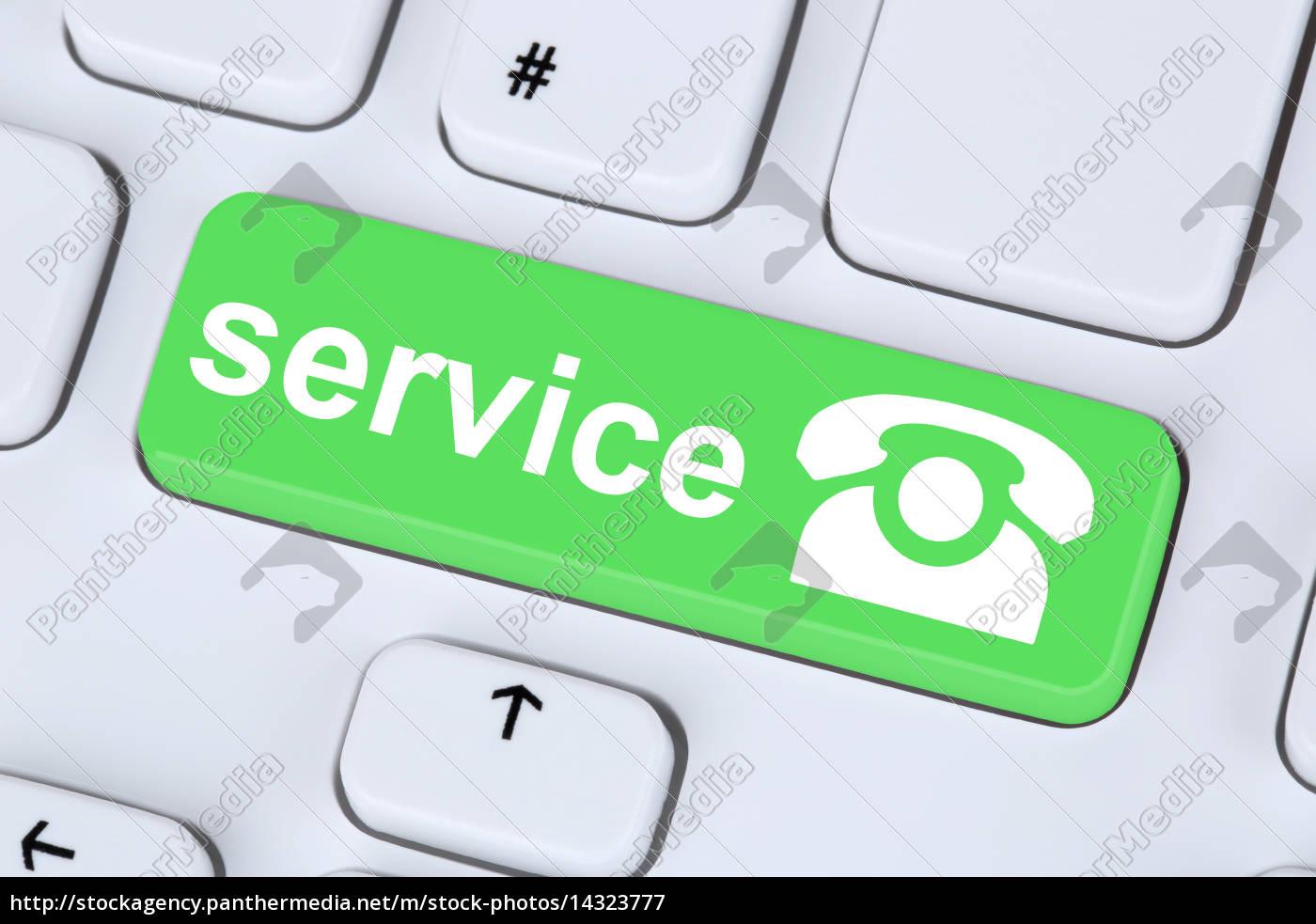 service, hotline, telefon, symbol, auf, computer - 14323777