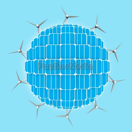 planet sonnenkollektoren windkraftanlagen zu verallgemeinern saubere
