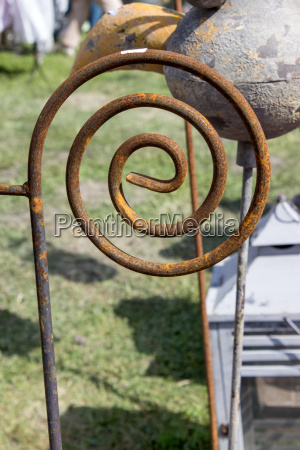 garden decoration made of rusted metal