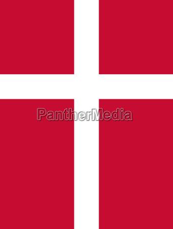 flagge von daenemark vertikal