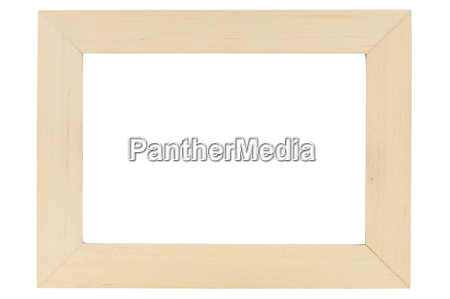bilderrahmen, aus, holz, auf, weißem, hintergrund - 14325781