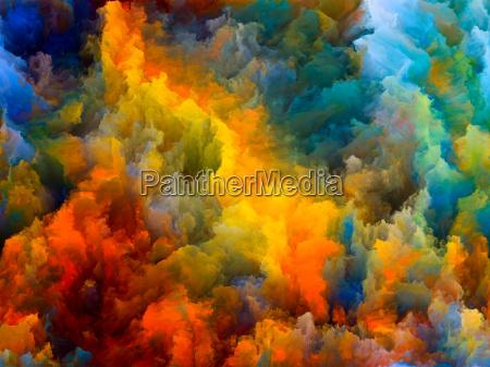 die geschwindigkeit der farb