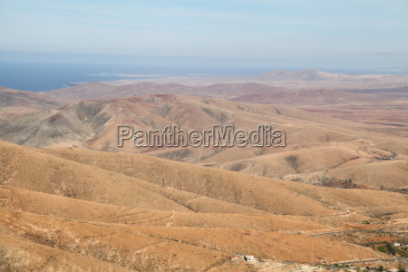 hill mountains canary islands sight view