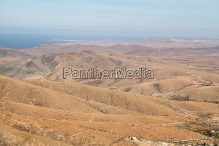 fuerteventura kanarischen inseln kanaren panorama berge