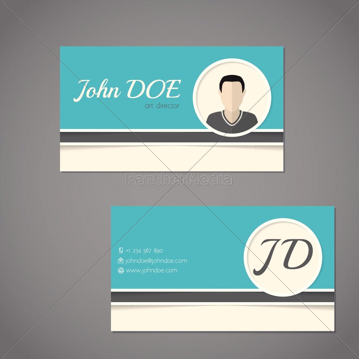 Lizenzfreie Vektorgrafik 14326877 Visitenkarte Design Mit Vorder Und Rückseite