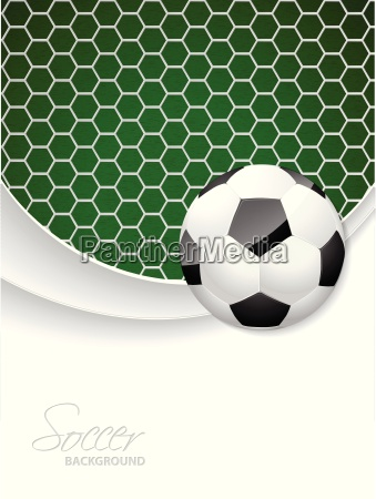 soccer brochure design with ball and